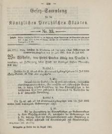Gesetz-Sammlung für die Königlichen Preussischen Staaten, 24. August 1895, nr. 33.