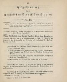 Gesetz-Sammlung für die Königlichen Preussischen Staaten, 14. Oktober 1895, nr. 40.