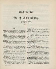 Gesetz-Sammlung für die Königlichen Preussischen Staaten (Sachregister), 1895
