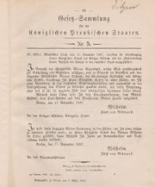Gesetz-Sammlung für die Königlichen Preussischen Staaten, 8. März 1888, nr. 5.
