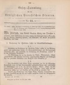 Gesetz-Sammlung für die Königlichen Preussischen Staaten, 29. Juni 1888, nr. 24.