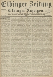 Elbinger Zeitung und Elbinger Anzeigen, Nr. 125 Donnerstag 2. Juni 1887