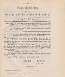 Gesetz-Sammlung für die Königlichen Preussischen Staaten, 14. Dezember 1888, nr. 33.