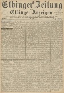 Elbinger Zeitung und Elbinger Anzeigen, Nr. 126 Freitag 3. Juni 1887