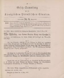 Gesetz-Sammlung für die Königlichen Preussischen Staaten, 13. März 1897, nr. 8.