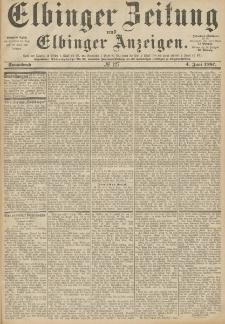 Elbinger Zeitung und Elbinger Anzeigen, Nr. 127 Sonnabend 4. Juni 1887