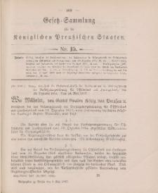 Gesetz-Sammlung für die Königlichen Preussischen Staaten, 4. Mai 1897, nr. 15.