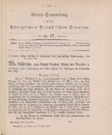 Gesetz-Sammlung für die Königlichen Preussischen Staaten, 19. Mai 1897, nr. 17.