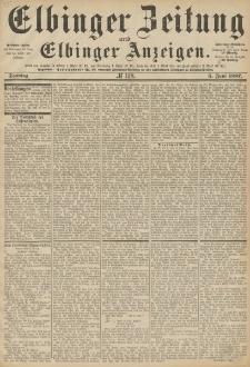Elbinger Zeitung und Elbinger Anzeigen, Nr. 128 Sonntag 5. Juni 1887