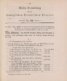 Gesetz-Sammlung für die Königlichen Preussischen Staaten, 14. Juni 1897, nr. 24.
