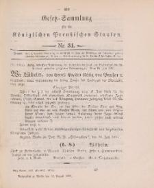 Gesetz-Sammlung für die Königlichen Preussischen Staaten, 21. August 1897, nr. 34.