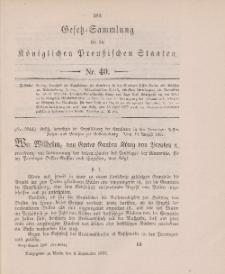 Gesetz-Sammlung für die Königlichen Preussischen Staaten, 8. September 1897, nr. 40.