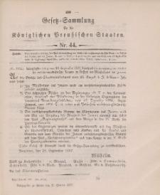 Gesetz-Sammlung für die Königlichen Preussischen Staaten, 11. Oktober 1897, nr. 44.