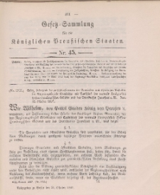 Gesetz-Sammlung für die Königlichen Preussischen Staaten, 21. Oktober 1897, nr. 45.