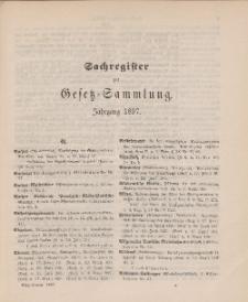 Gesetz-Sammlung für die Königlichen Preussischen Staaten (Sachregister), 1897