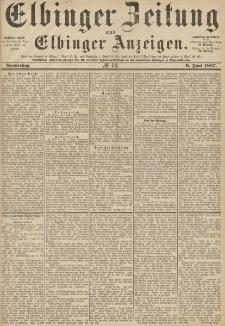 Elbinger Zeitung und Elbinger Anzeigen, Nr. 131 Donnerstag 9. Juni 1887