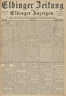 Elbinger Zeitung und Elbinger Anzeigen, Nr. 132 Freitag 10. Juni 1887