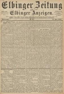Elbinger Zeitung und Elbinger Anzeigen, Nr. 133 Sonnabend 11. Juni 1887