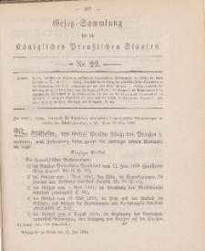 Gesetz-Sammlung für die Königlichen Preussischen Staaten, 10. Juli 1884, nr. 22.