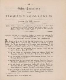 Gesetz-Sammlung für die Königlichen Preussischen Staaten, 16. November 1884, nr. 29.