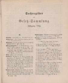 Gesetz-Sammlung für die Königlichen Preussischen Staaten (Sachregister), 1884