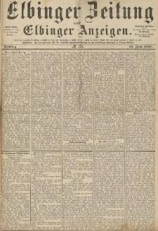 Elbinger Zeitung und Elbinger Anzeigen, Nr. 135 Dienstag 14. Juni 1887