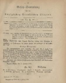 Gesetz-Sammlung für die Königlichen Preussischen Staaten, 1. Februar 1879, nr. 2.