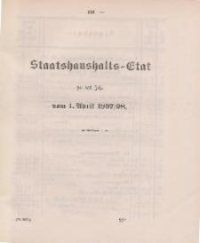 Gesetz-Sammlung für die Königlichen Preussischen Staaten, (Staatshaushalts-Etat für das Jahr von 1. April 1879/80)