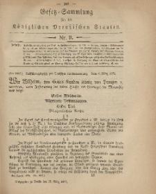 Gesetz-Sammlung für die Königlichen Preussischen Staaten, 28. März 1879, nr. 9.
