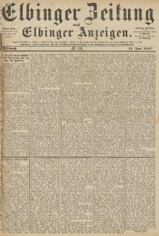 Elbinger Zeitung und Elbinger Anzeigen, Nr. 136 Mittwoch 15. Juni 1887