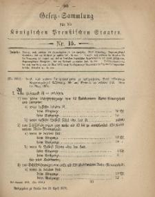 Gesetz-Sammlung für die Königlichen Preussischen Staaten, 26. April 1879, nr. 15.
