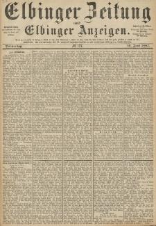 Elbinger Zeitung und Elbinger Anzeigen, Nr. 137 Donnerstag 16. Juni 1887