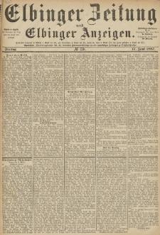 Elbinger Zeitung und Elbinger Anzeigen, Nr. 138 Freitag 17. Juni 1887