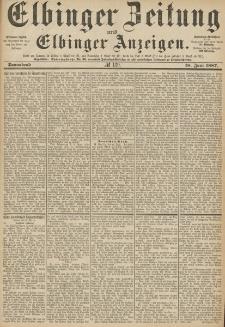 Elbinger Zeitung und Elbinger Anzeigen, Nr. 139 Sonnabend 18. Juni 1887