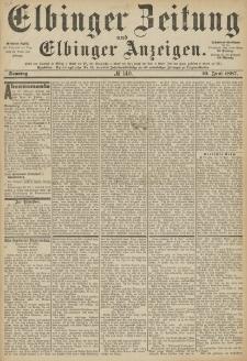 Elbinger Zeitung und Elbinger Anzeigen, Nr. 140 Sonntag 19. Juni 1887