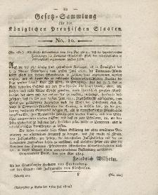 Gesetz-Sammlung für die Königlichen Preussischen Staaten, 19. Juli 1814, nr. 10.