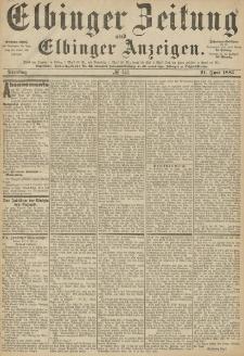 Elbinger Zeitung und Elbinger Anzeigen, Nr. 141 Dienstag 21. Juni 1887