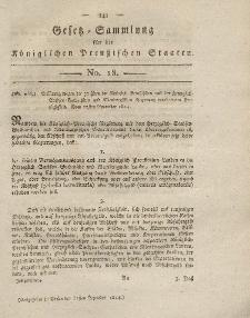 Gesetz-Sammlung für die Königlichen Preussischen Staaten, 31. Dezember 1814, nr. 18.