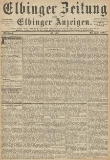 Elbinger Zeitung und Elbinger Anzeigen, Nr. 142 Mittwoch 22. Juni 1887