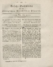 Gesetz-Sammlung für die Königlichen Preussischen Staaten, 5. August 1815, nr. 12.