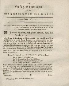 Gesetz-Sammlung für die Königlichen Preussischen Staaten, 21. November 1815, nr. 15.