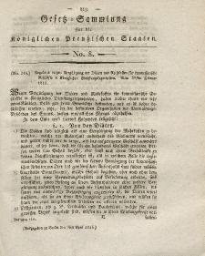 Gesetz-Sammlung für die Königlichen Preussischen Staaten, 9. April 1816, nr. 8.