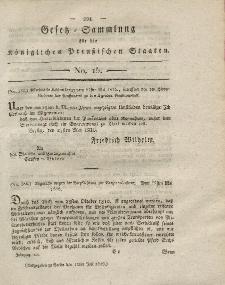 Gesetz-Sammlung für die Königlichen Preussischen Staaten, 11. Juli 1816, nr. 15.