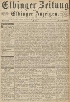 Elbinger Zeitung und Elbinger Anzeigen, Nr. 145 Sonnabend 25. Juni 1887