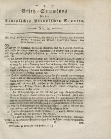 Gesetz-Sammlung für die Königlichen Preussischen Staaten, 8. Februar 1817, nr. 2.