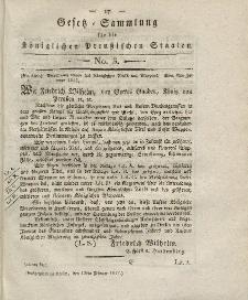 Gesetz-Sammlung für die Königlichen Preussischen Staaten, 15. Februar 1817, nr. 3.