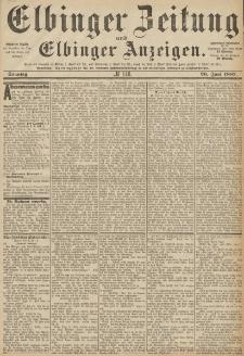 Elbinger Zeitung und Elbinger Anzeigen, Nr. 146 Sonntag 26. Juni 1887