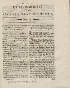 Gesetz-Sammlung für die Königlichen Preussischen Staaten, 4. September 1817, nr. 14.
