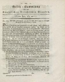 Gesetz-Sammlung für die Königlichen Preussischen Staaten, 6. November 1817, nr. 16.