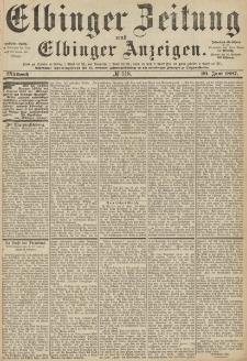 Elbinger Zeitung und Elbinger Anzeigen, Nr. 148 Mittwoch 29. Juni 1887